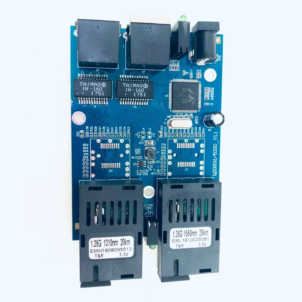 Image 5 - 10/100/1000M Gigabit Ethernet switch Ethernet Fiber Optical Media  Converter Single Mode 2 RJ45 UTP and 2 SC fiber Port Board PCB-in Fiber  Optic Equipments from Cellphones