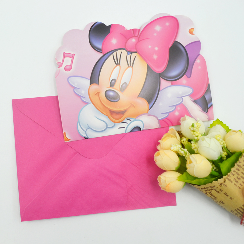 Online get cheap minnie mouse invitations for Baby minnie mouse party decoration