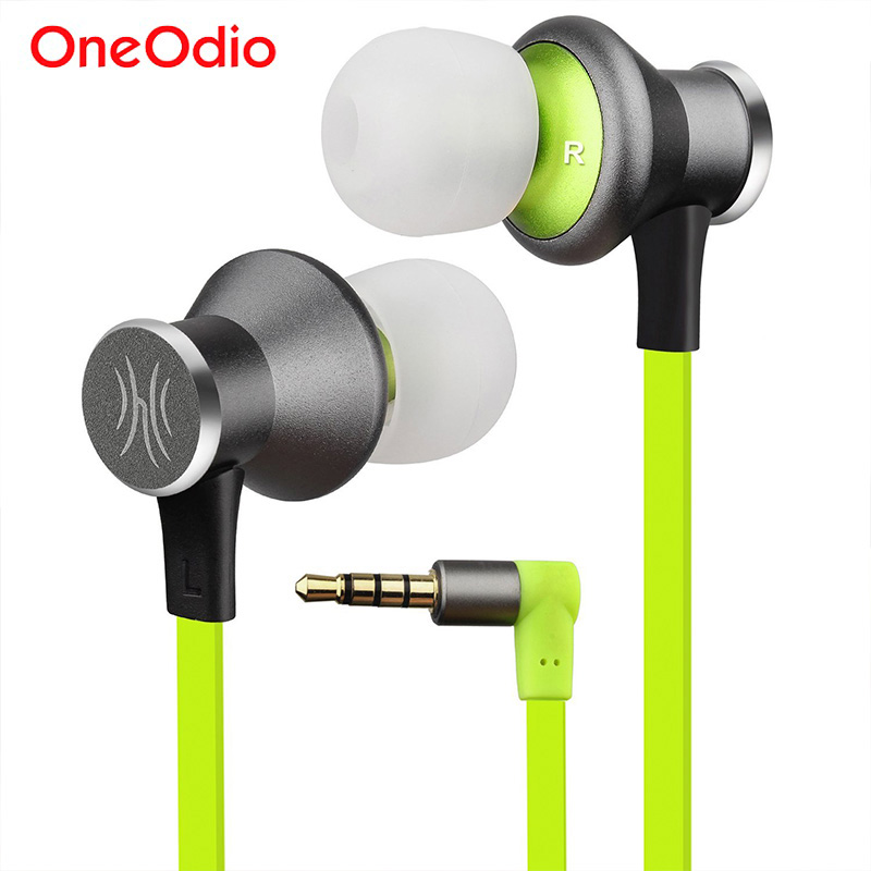 Oneodio Sport Earphones Running HiFi Stereo Bass 3.5mm Metal In-Ear Wired Earphone Headset With Microphone For Phone Earbuds 3 5mm heavy bass stereo earphone for dexp ixion mq 3 5 earbuds headsets with microphone metal in ear earphones