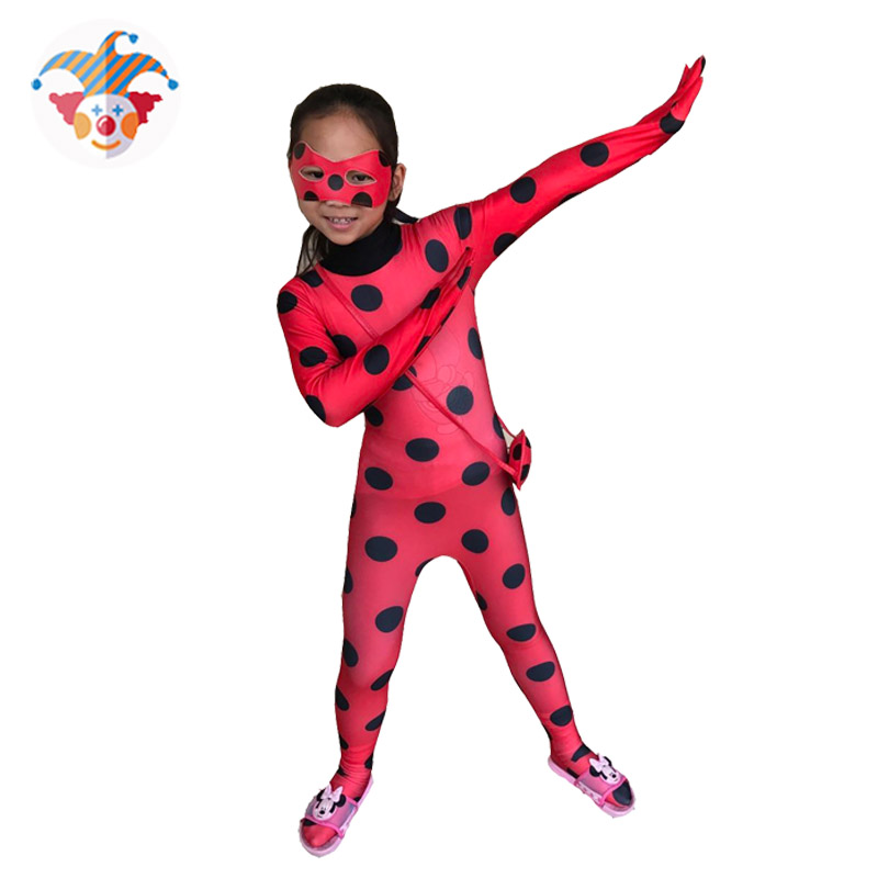 Halloween Cosplay Costume Party Kids Girls Jumpsut Romper Mask Bag Suit Set