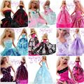 15 items =5 dresses +10 pcs accessories / Top Quality Party Gown Clothing Skirt Outfit Clothes For 1/6 Kurhn Barbie Doll Toy