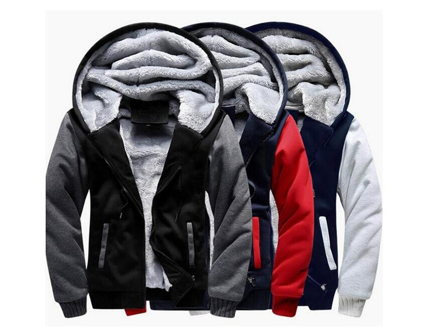 2018 New Winter Jacket Men Jackets Male Hooded Coats Quality Zipper Casual Brand Thicken Velvet Warm Tracksuit