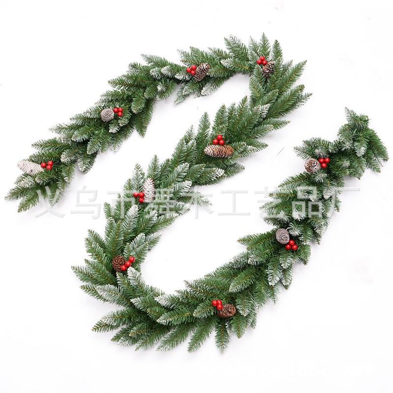 Garland Wreath Decor Pine Branch Christmas Fireplace Door Garden Ornaments