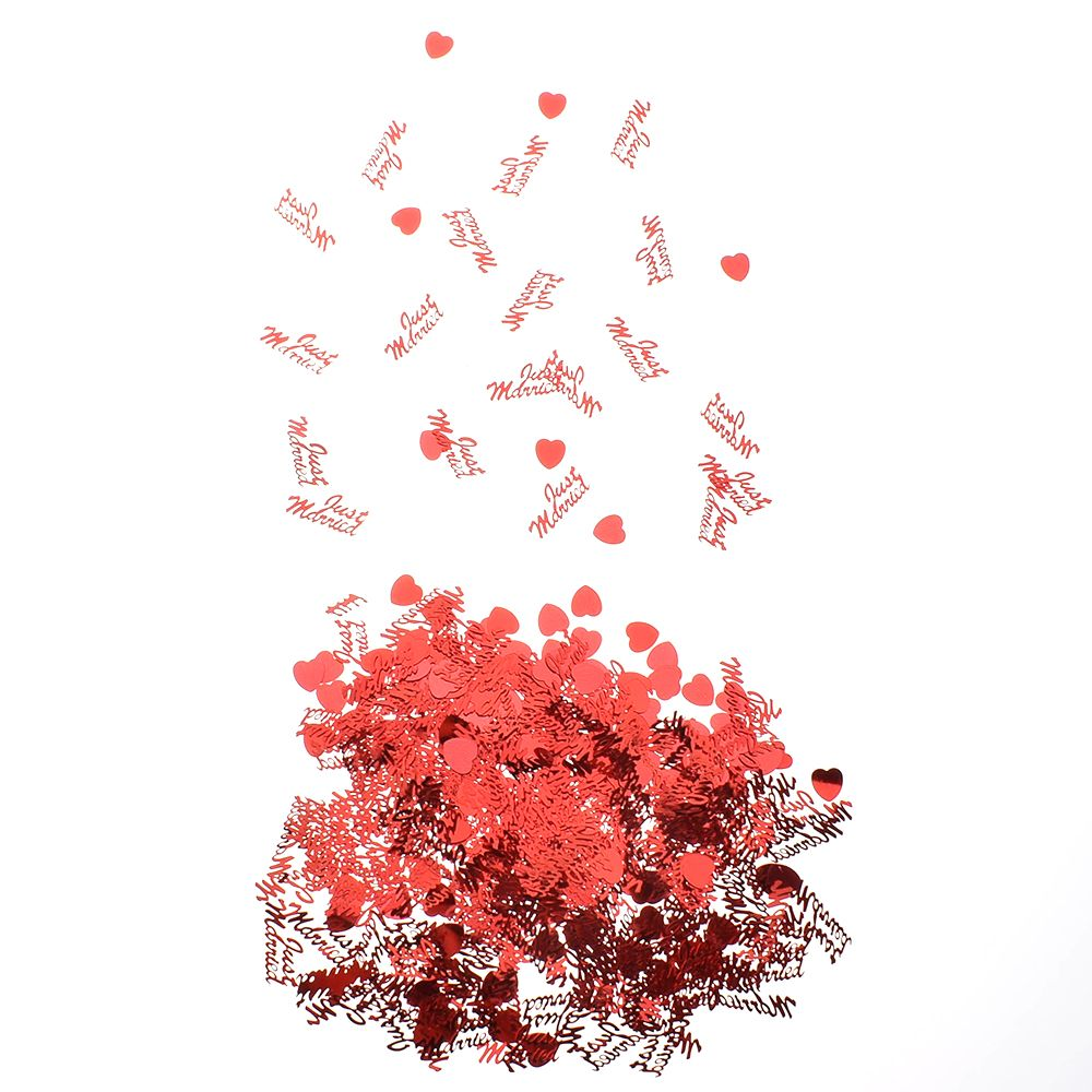 350Pcs Just Married/&Heart Foil Sequins Throwing Confetti Scatter Wedding Decor
