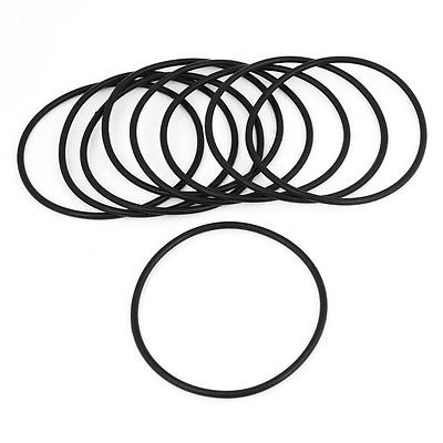 80mm X 3mm Rubber Sealing Washers Oil Filter O Rings Black 9 Pcs In