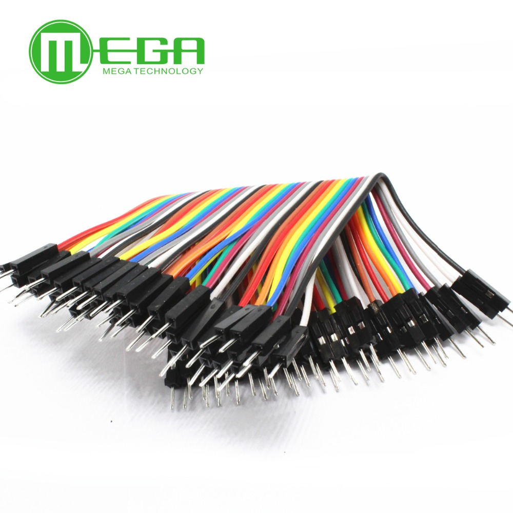 10ROW=400pcs 10cm 2.54mm 1pin 1p-1p male to male jumper wire Dupont cable for arduino