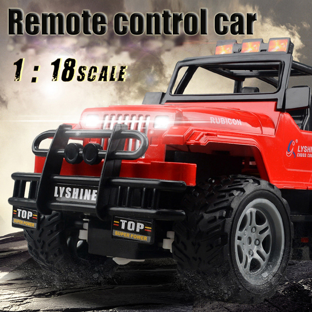 Remote Control Car 1:18 Rc Car 4Wd Monster Truck Mini Rtr Racing Car Ready-To-Go Machine Toy Gifts Off-Road Tires DE12b