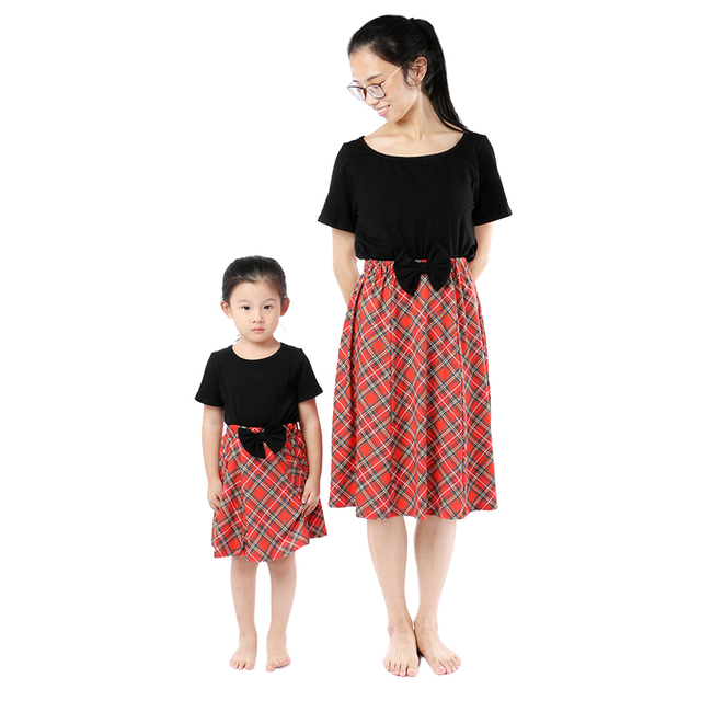Kaiya Angel Christmas Mother Daughter Clothes Baby Girls Clothing Sets Tops  Red Plaid Cotton Kids 2 pcs Suit Factory Wholesale 1c70b76e6c05