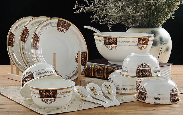 32-piece set royal fine bone china dinnerware set porcelain buffet dishes & 32 piece set royal fine bone china dinnerware set porcelain ...