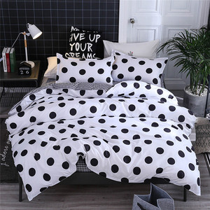 Image 4 - Four Piece Quilt Cover, Pillowcase Dot Black Full Size duvet cover  bedroom sweet dreams Gently mattresses beauty salon couch