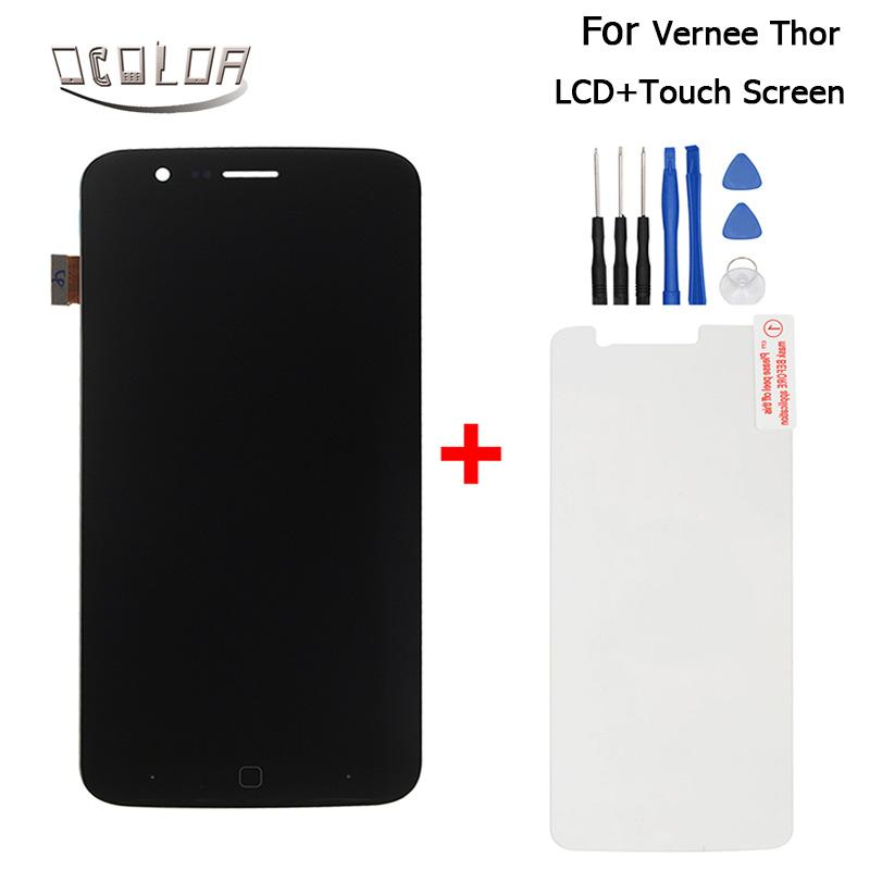 Prix pour Vernee Thor LCD Affichage et Écran Tactile Assemblée Réparation Partie 5.0 pouce Mobile Pour Vernee Thor LCD + outils + verre + Livraison Gratuite
