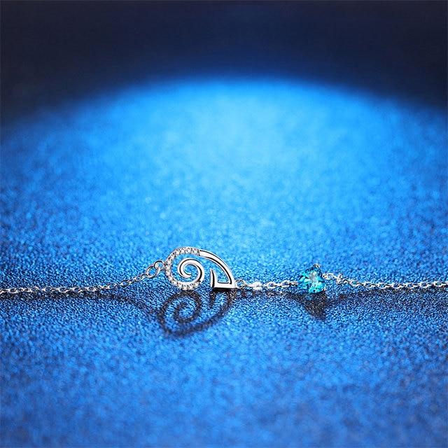 Bracelet Pierre Porte-Bonheur Topaze Bélier Bleu