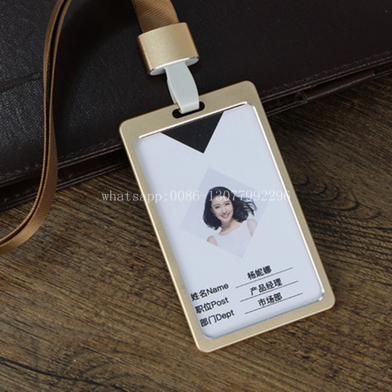 Online Shop 1pc Company Worker ID Card Case Business Card Aluminum ...