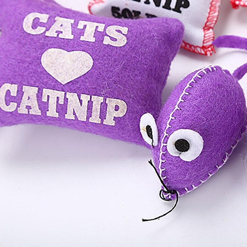 Pet Mice Catnip Cat Toys Chew Thumb Sachet Bite Toy for Kittens Mice Animal Toys