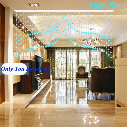 Free Shipping! New Fashion 001 Beaded Door <font><b>Curtains</b></font> ---Made to Measure Size 0.7m(Drop) *1.2 m(Width