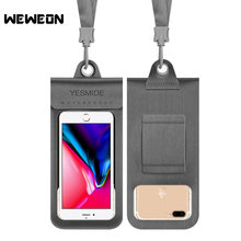 Universal 4.0 to 6 Inches Waterproof Phone Bags Dry Pouch for iPhone Samsung Huawei Water Resistant Phone Case Diving Cover(China)