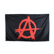 90*150cm anarchy red flag