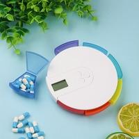 Timed Reminder Small Electronic Pill Box Electric Pills Case Alarm Portable Smart Dispenser Carry Receiving Dispense Mini