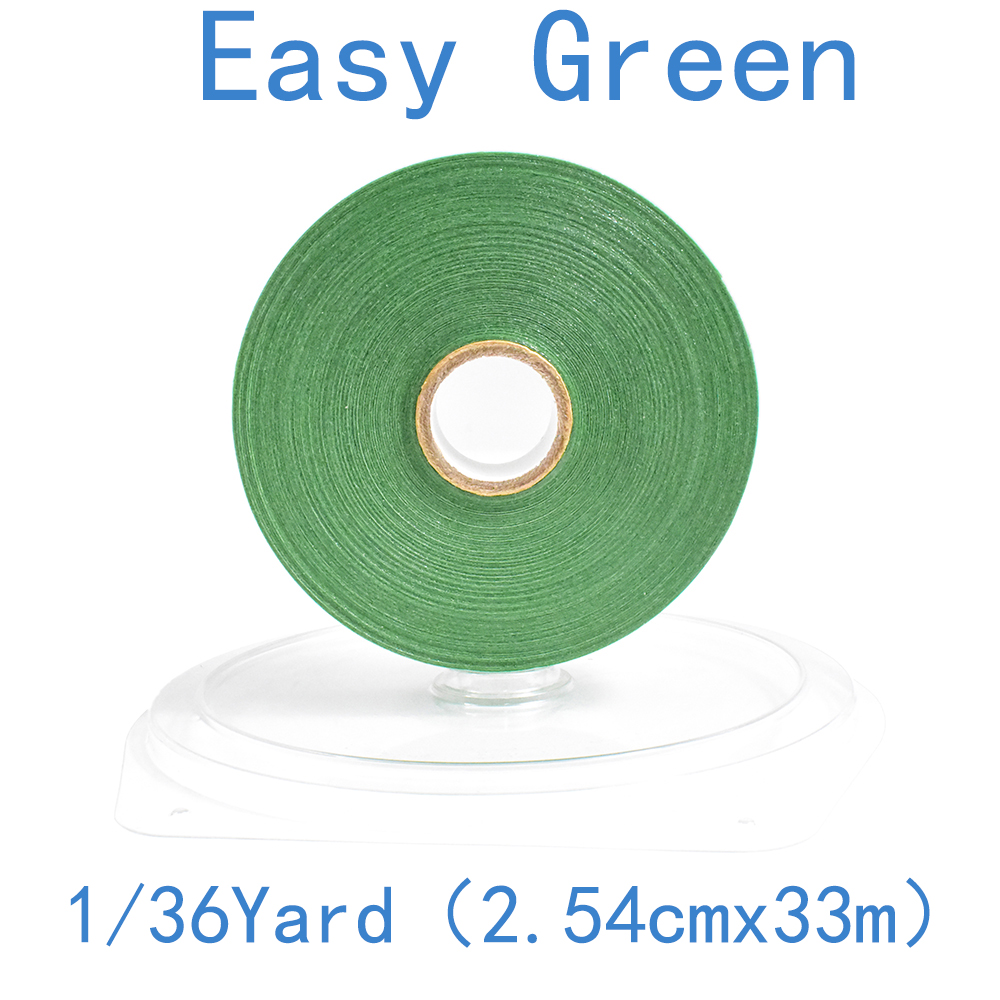 2.54cm*36yards Wig Easy Green Support Double Sided Waterproof Adhesive Tape For Tape Hair Extension/toupee/lace Wig