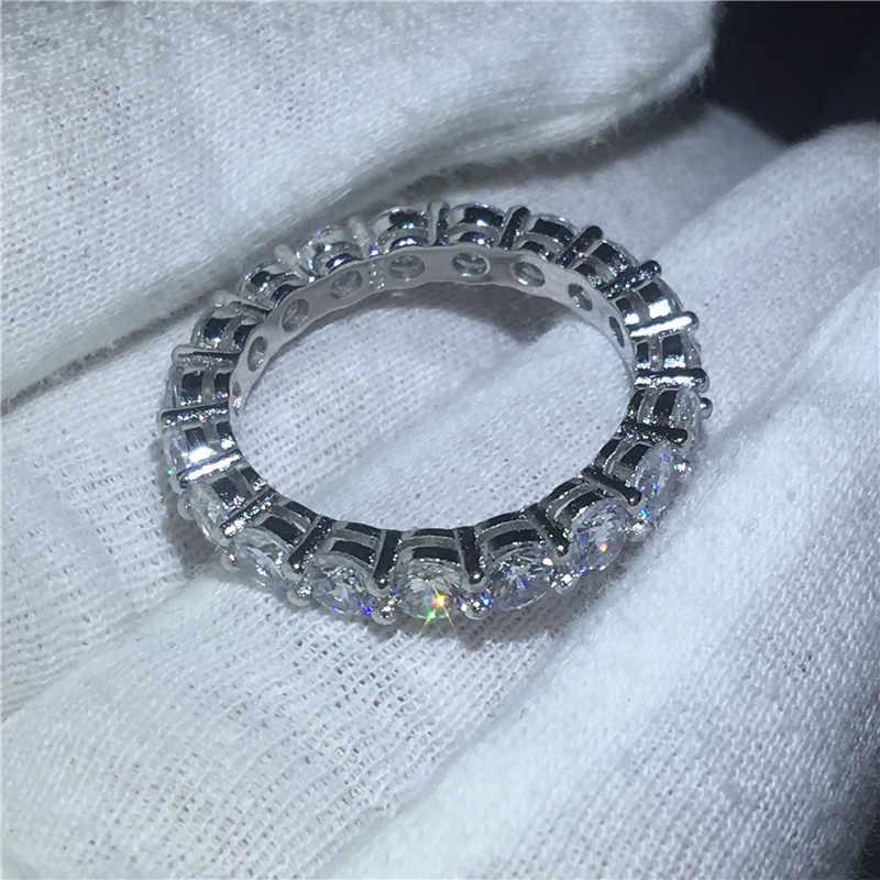 Choucong Luxury 100% แท้ 925 แหวนเงินสัญญาชุด 4CT 5A Zircon CZ งานแต่งงานแหวนสำหรับผู้หญิงเครื่องประดับของขวัญ
