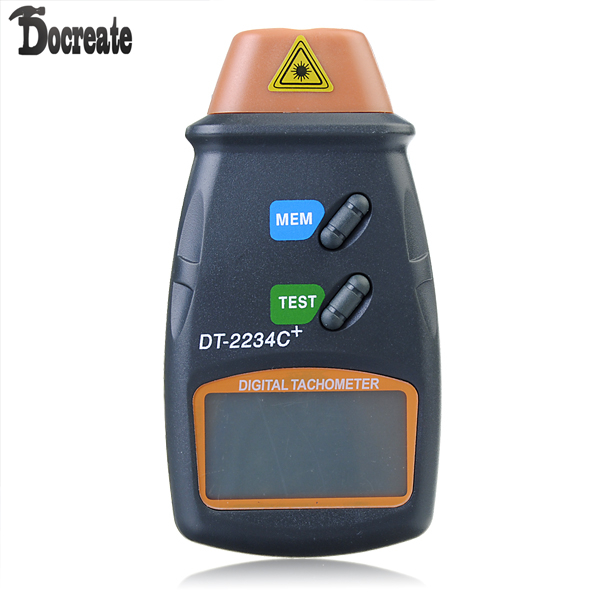 DT2234C+ Digital Laser RPM Tachometer Non Contact Measurement Tool laser type tachometer portable digital tachometer