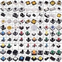 EziUsin 200 Uds surtido de botones pulsadores de Interruptor microinterruptor táctil Kit coche Control remoto Tablet Reparación de PC paquete Interruptor táctil