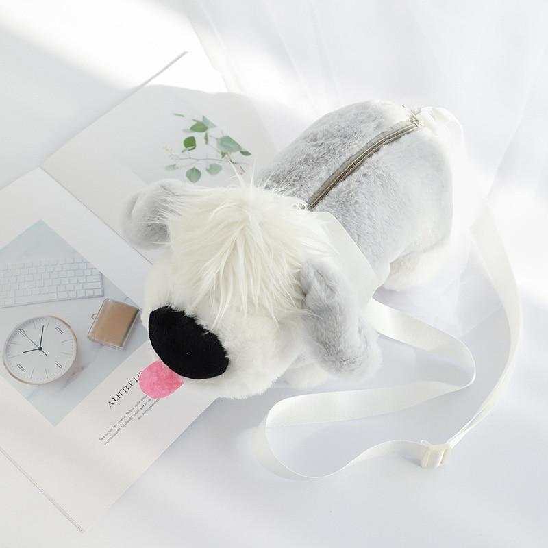 2cbcf1b13d51 Собака Плюшевые игрушечные лошадки сумки через плечо обувь для девочек  милые мягкие игрушки сумка Детские игрушки