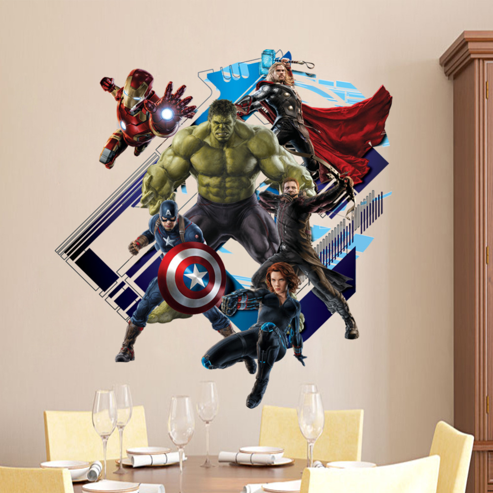 Super hero avengers hulk peel and stick wall sticker kids room super hero avengers hulk peel and stick wall sticker kids room stickers cartoon decals home decor wallpaper poster y007 in wall stickers from home garden amipublicfo Gallery