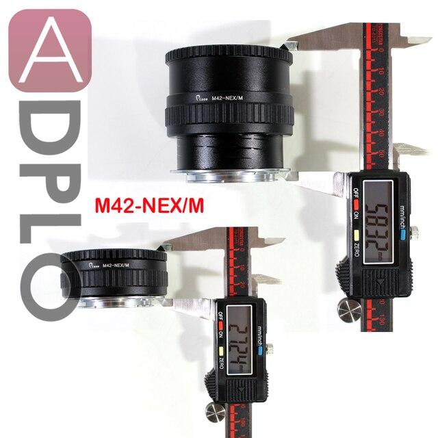 M42 NEX/M Pixco ayarlanabilir odaklama makro Helicoid adaptörü tüp takım elbise için M42 Lens Sony E dağı kamera NEX a5000 A3000 5T 3N