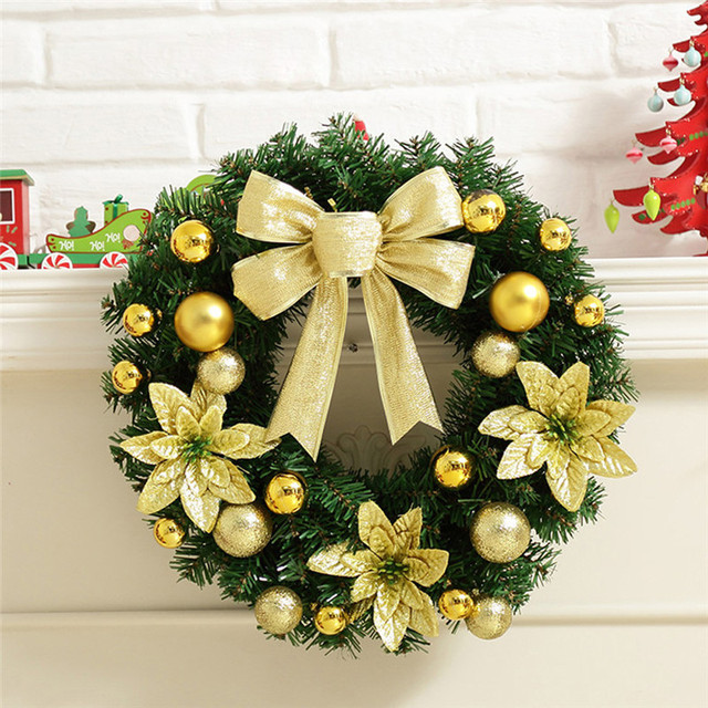 hot sale pvc artificial christmas holiday wreath berries snowflake decorations 40cm40cm christmas decorations supplies - Christmas Decorations Sale