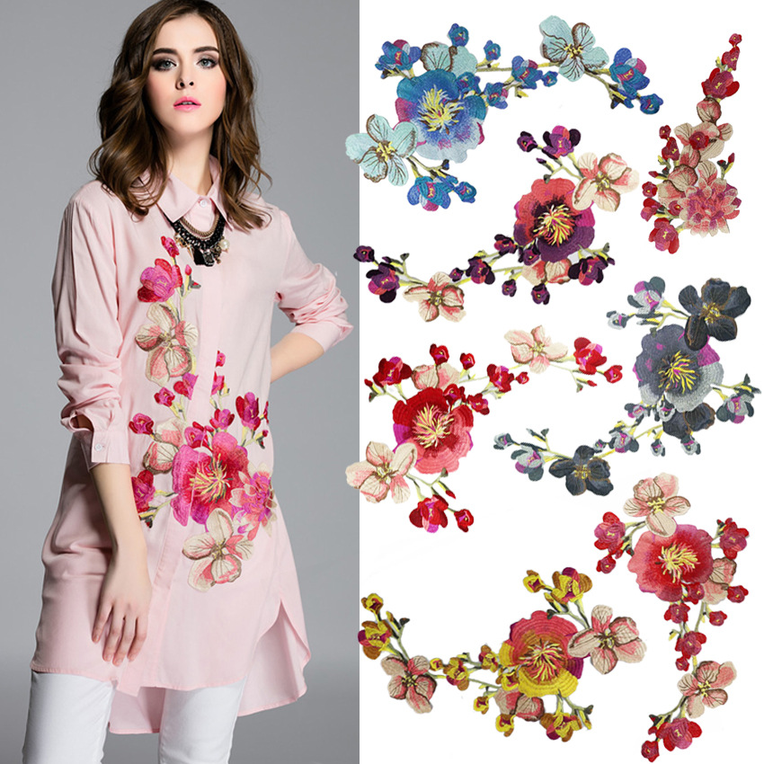Clothing Embroidery Water-soluble Lace Cloth Pasting High-grade Cheongsam Heavy Industry Subsidize National Peony Flowers