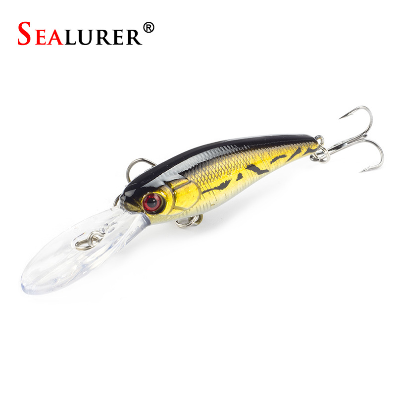 SEALURER 9cm 8G High Quality 6# Hooks Fly Fishing Minnow Lure Wobble Pesca Plastic Hard Bait Crankbait 1pcs/lot 10 colors sealurer big tongue minnow fishing lure float wobbler 16cm 27 5g sea fly pesca hard bait crankbait tackle 1pcs lot