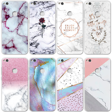 For Cover Huawei Mate 10 20 P8 P9 P10 P30 Lite Plus P20 Pro Mini P Smart 2019 For TPU Marble Fundas Huawei Honor 10 Lite 7A Case(China)