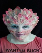 New arrival Flower Monster mask wigs mascaras halloween cos women show masquerade latex realistic silicone horror masks