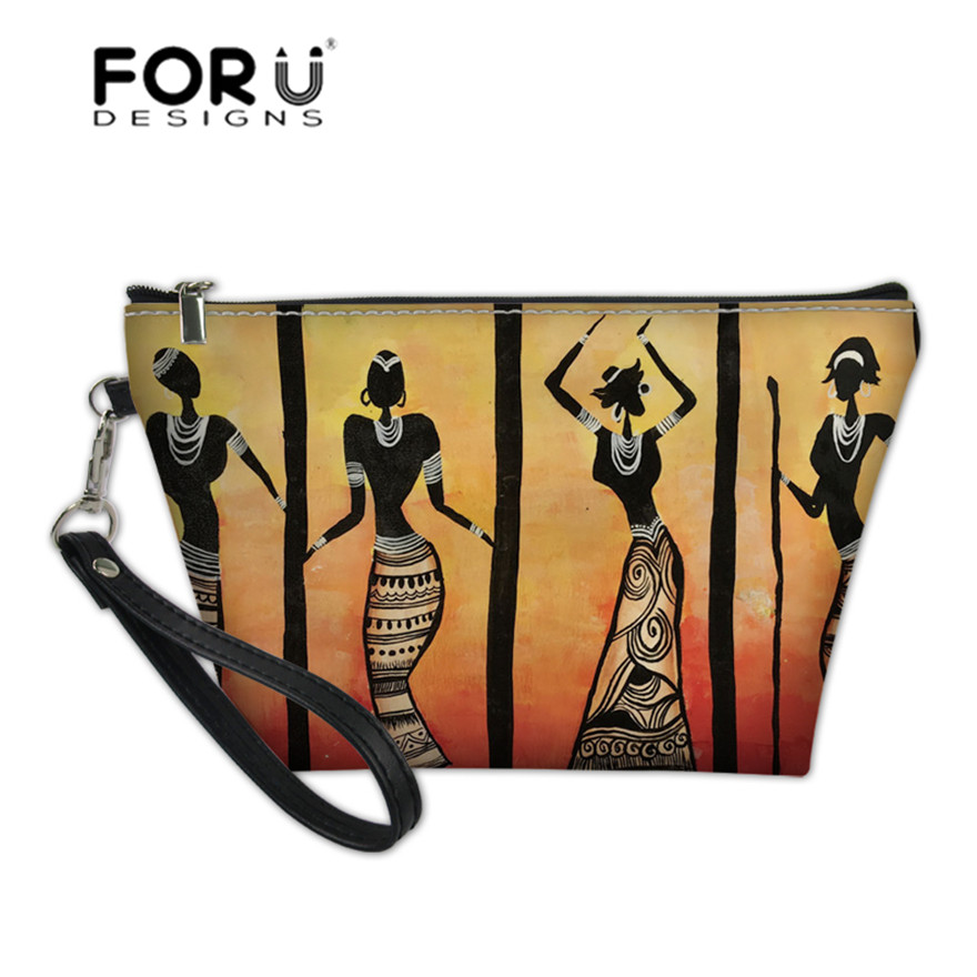 FORUDESIGNS Function Wash Kit Bags For Women African Tribal Dance Printing Cosmetic Cases Ladies Organizer Toiletry Bag Storage