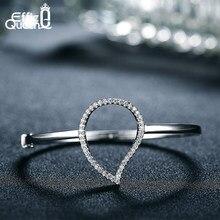 3043df384dcc Effie reina de moda pulseras del encanto para las mujeres con AAA circón  cúbico de forma de gota de agua de Color plata Pulsera .