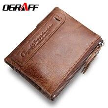 OGRAFF Marke männer geldbörsen dollarpreis geldbörse Aus Echtem leder brieftasche kartenhalter designer kupplung business mini brieftasche hohe qualität