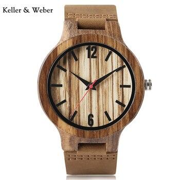 20a8a7d7 КВт Для мужчин деревянные наручные часы простые Модные Творческий ...