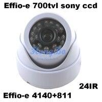 Effio-E 700tvl 1/3 소니 CCD 4140 + 811 CCD 보드 24 leds IR 실내 HD 960 H 보안 CCTV 실내 돔 카메라 감시 카메