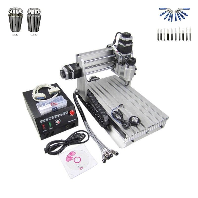 230 w broche cnc laser machine 3020 t bois routeur avec livraison cutter er11 collet