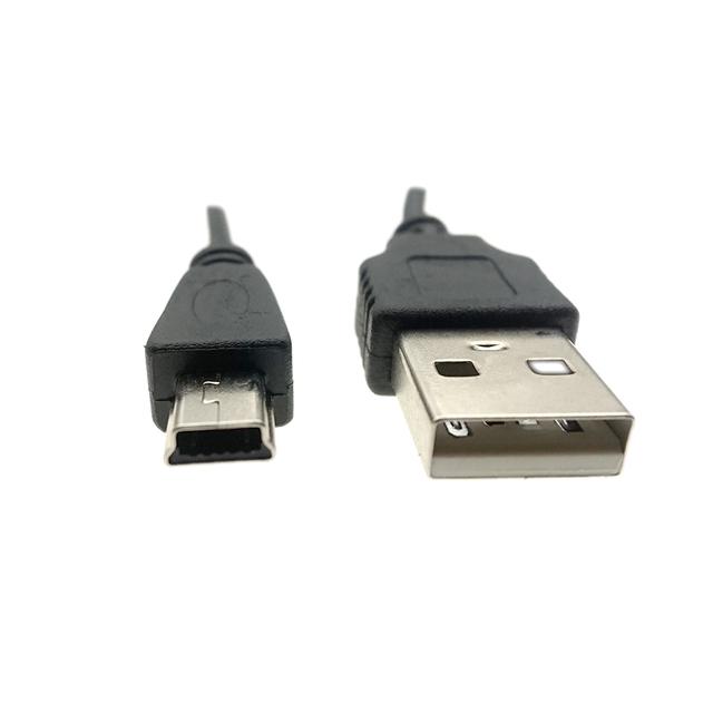 HOMEBARL Data Sync Flat Mini USB A Male To Mini 5 Pins B Charger V3 USB Cable For MP3 MP4 MP5 Player Camera Radio Bluetooth DVD