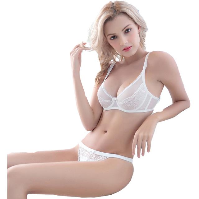 Japanese lace push-up bra ultra-thin sexy bra set bow temptation sexy panties lingerie romantic intimate underwear women n0671