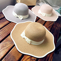 New Waves High Quality Sun Hats Straw hat Bow Summer Hats For Women Fashion Cool Chapeau Femme Cool Beach Hat Popular Letter