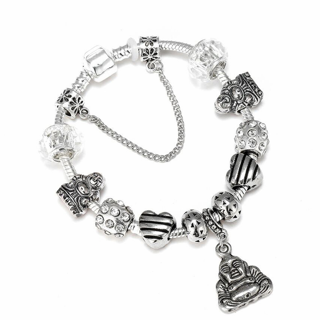 US $1 5 50% OFF|Aliexpress com : Buy New Relig Maitreya Buddha Dangle Charm  Bracelet Crystal Charms Beads Fit Brand Bracelet Woman Men Jewelry