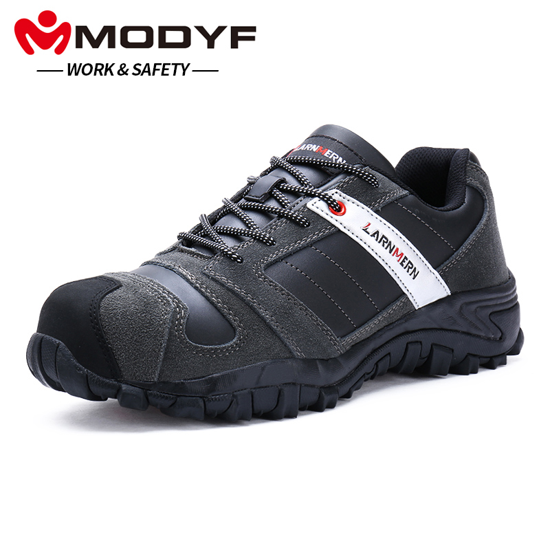 MODYF Uomini Puntale In Acciaio Scarpe di Sicurezza Sul Lavoro In Vera Pelle Casual Anti-kick Calzature Outdoor di Puntura Prova della Scarpa Da Tennis