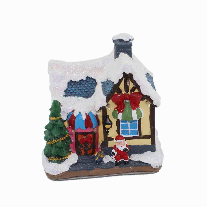 Resin Holiday Decor Christmas Village Toy Shop House With