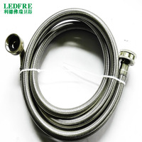 LF15015 118inch( 3M ) F3/4*F3/4 Flexible Stainless steel Braided Washing Machine Hose w/elbow Hose Supply plumbing hose