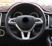цены 1pc for SKODA KODIAQ Steering wheel decorate Trim