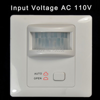 Wall Mount IR Infrared Motion Sensor Automatic Light Lamp Switch Sound Switch Pir Detector AC110V