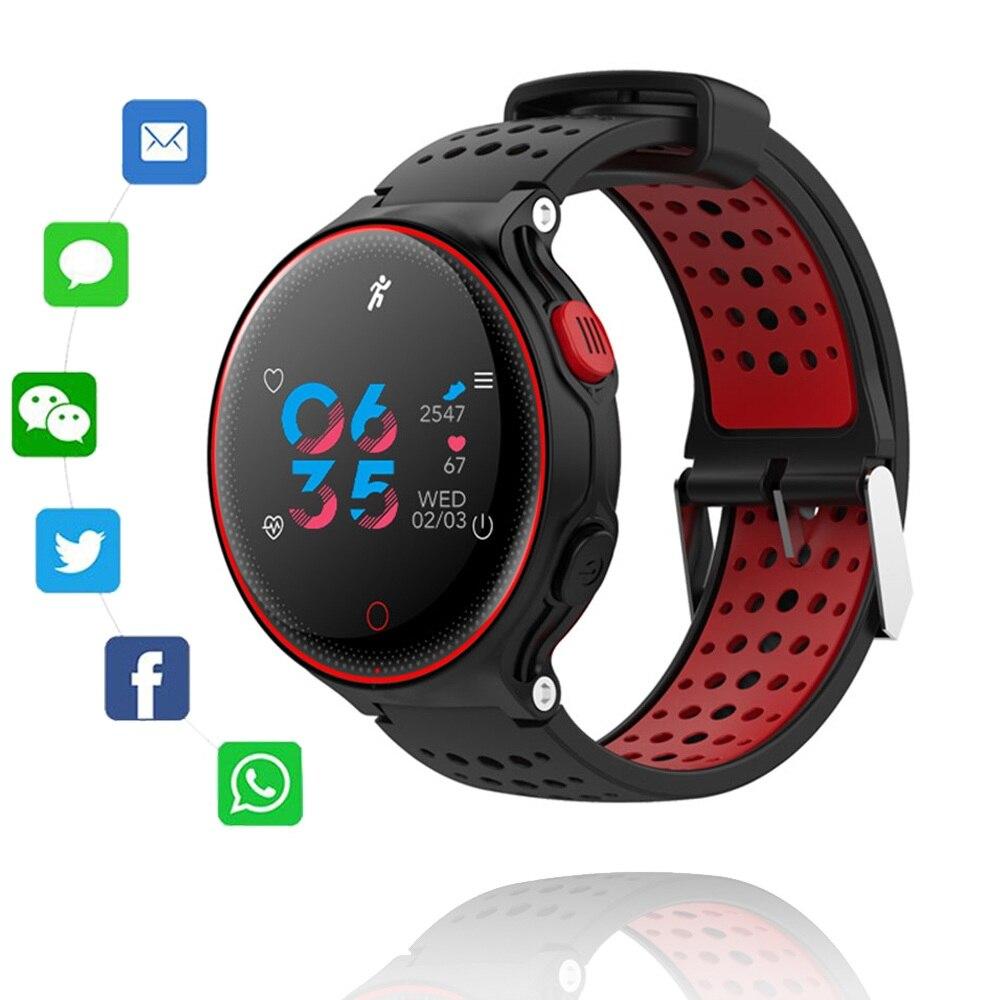 Smart Uhr IP68 Wasserdichte Schwimmen Fitness Tracker Sport Smartwatch Blutdruck Herz Rate Monitor Erinnerung Armband